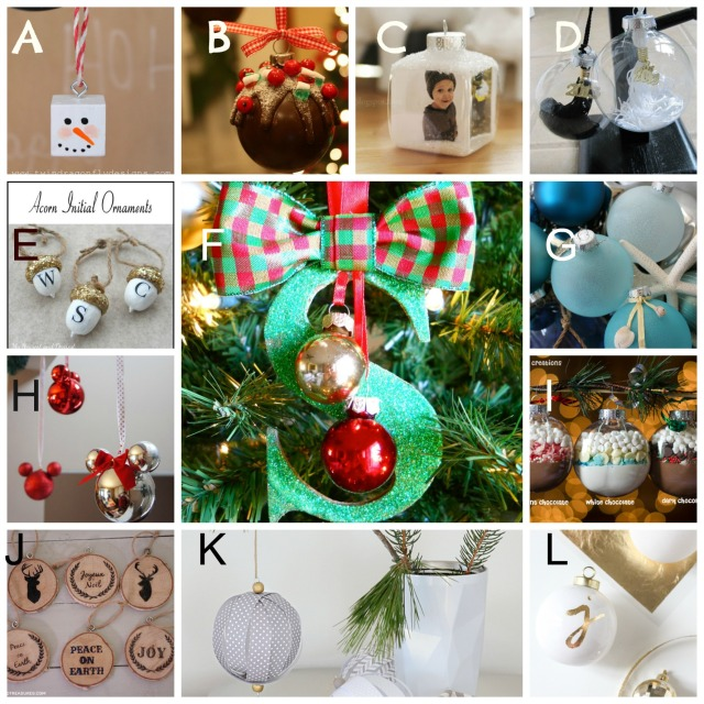 Twelve Christmas ornaments