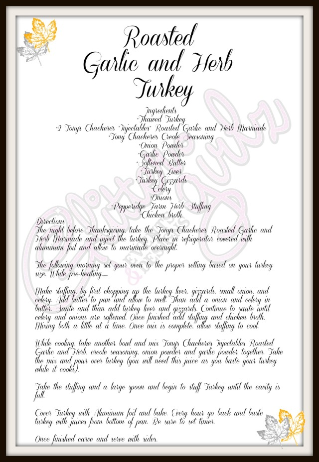 Roasted Garlic and Herb Turkey