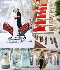 christmas accent wedding