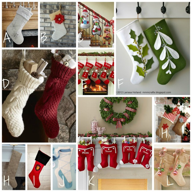 Christmas Stocking Collage