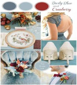 Dusty blue and cranberry palette