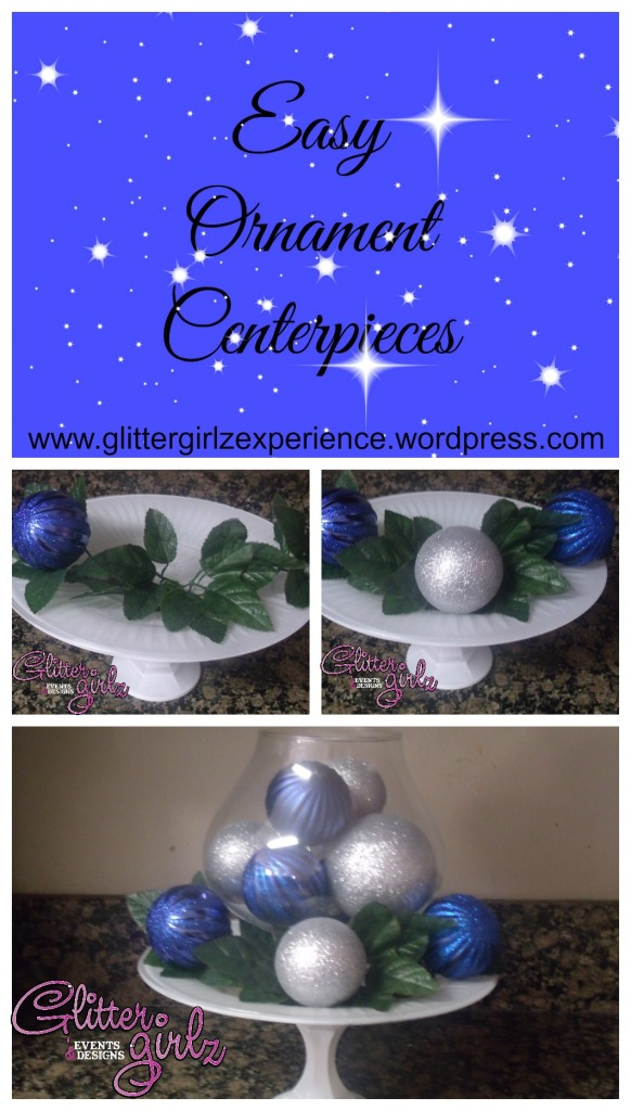 Easy Ornament Centerpieces Blue Final