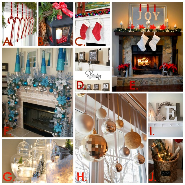 Fireplace Mantle Collage