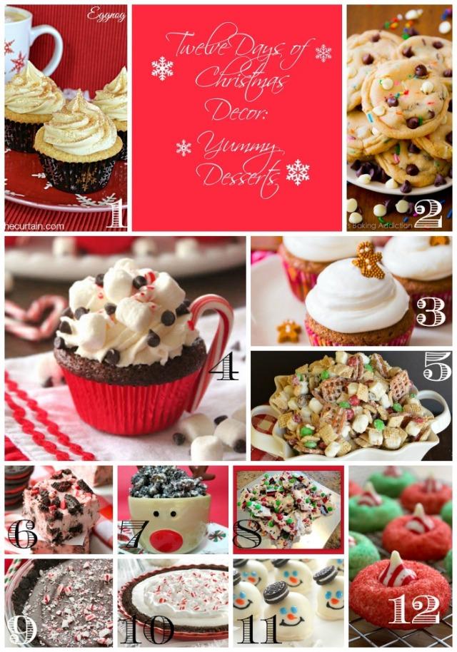 Yummy Desserts Collage