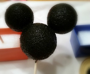 mickey mouse head painted